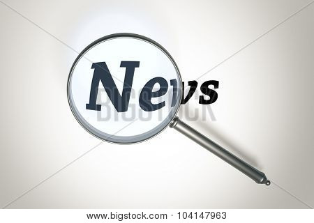 An image of a magnifying glass and the word news