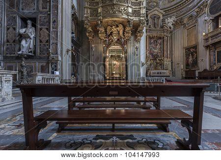 Interior Of The Church Santa Maria In Vallicella