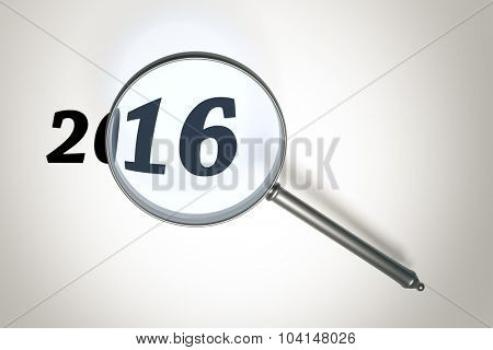 An image of a magnifying glass and the number 2016