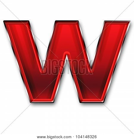 Metal Letter W In Red