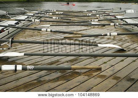 Oars On A Dock
