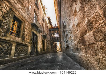 Gothic Quarter. Barcelona. Spain.