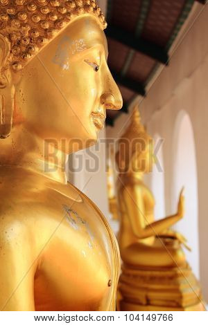 Buddha Statue At Phra Prathom Jedi, Thailand
