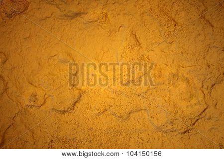 Yellow Painting Stone Texture Wallpaper