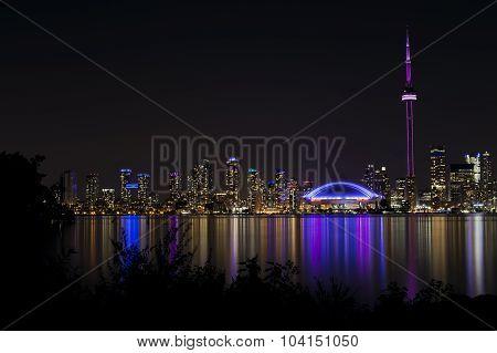 Night View of Toronto's Skyline