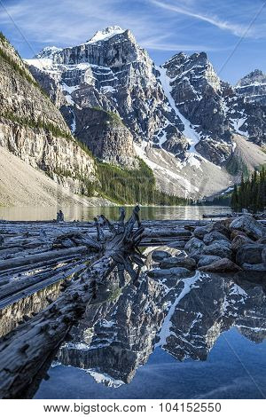 Moraine Lake with Logs