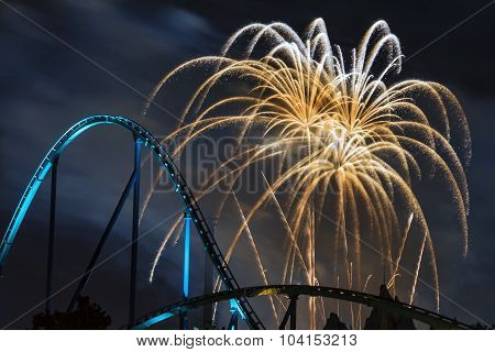 Fireworks Over the Rollarcoaster