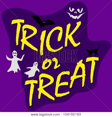 trick ot treat card