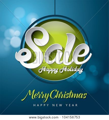 Christmas Sale vector design
