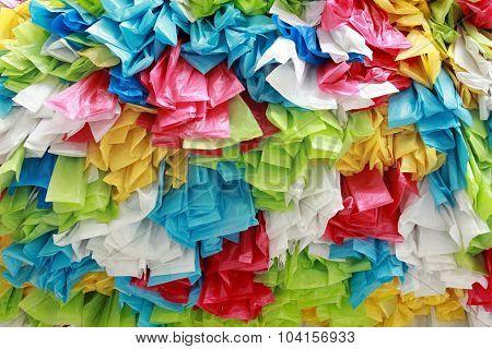 Background Of Color Roll Plastic Bag