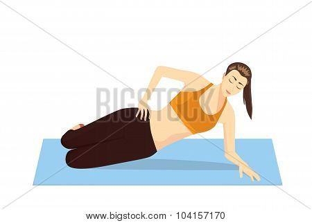 Pilates exercises with lying side hip raises