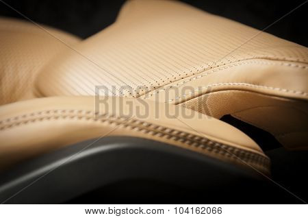 Light brown pefrorated leather