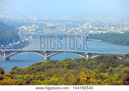 Metro Bridge. Kyiv, Ukraine