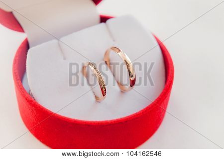 Wedding rings in a box