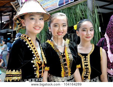 Malaysian in their traditional costume