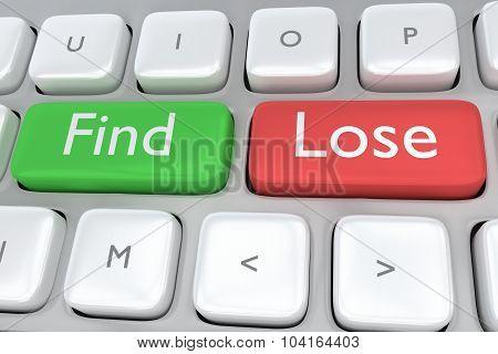 Find/lose Concept