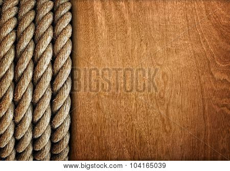 wood board with rope design