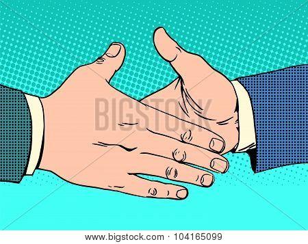 Deal handshake business concept