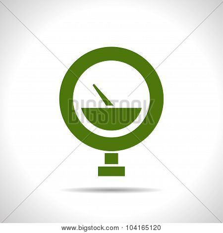 Vector color flat manometer icon