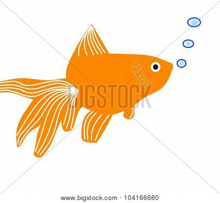 fantail goldfish cartoon clip art