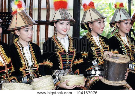 Kadazandusun ladies in their traditional costume