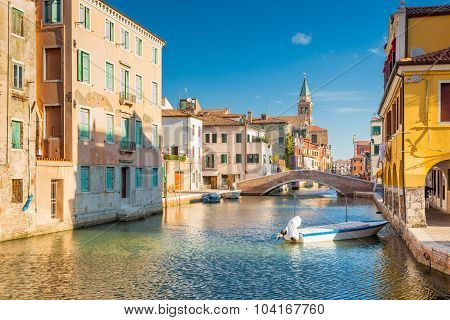 Chioggia, View Of Canal Vena