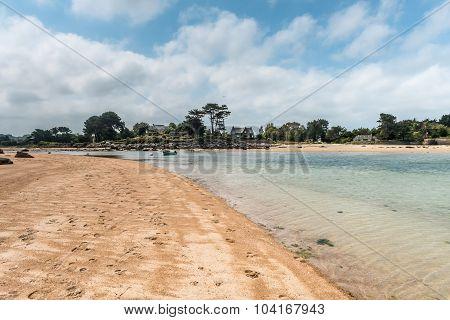 scenic coastal landscape of Bretagne, northern France