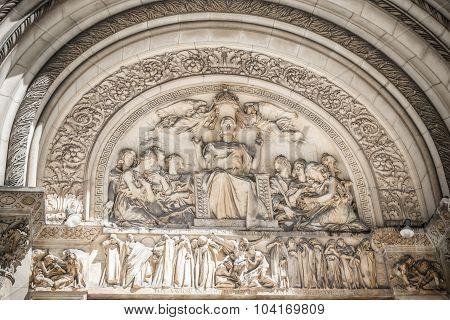 St. Bartholomew's Episcopal church relief, New York