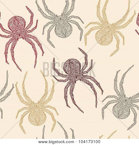 Seamless spider pattern