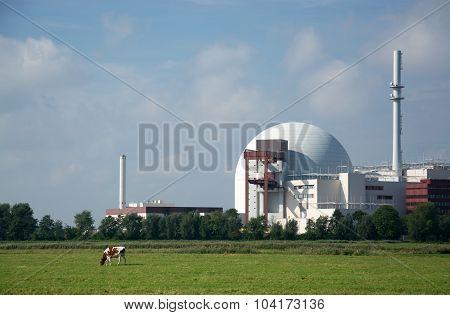 Nuclear Power Plant Brokdorf, Schleswig-holstein, Germany