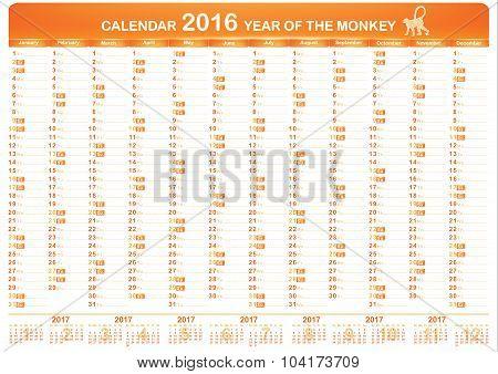 Calendar 2016 - English Planner