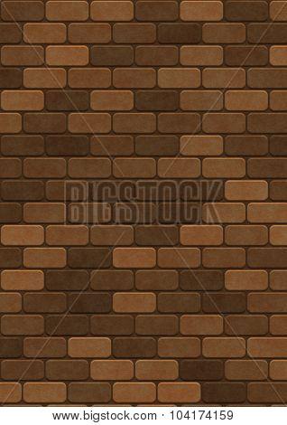 Artificial color bricks wall texture