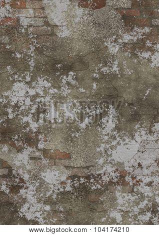 Grunge, rusty and distressed bricks wall