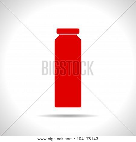Vector color flat bottle template
