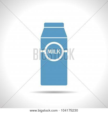 Vector flat milk bottle