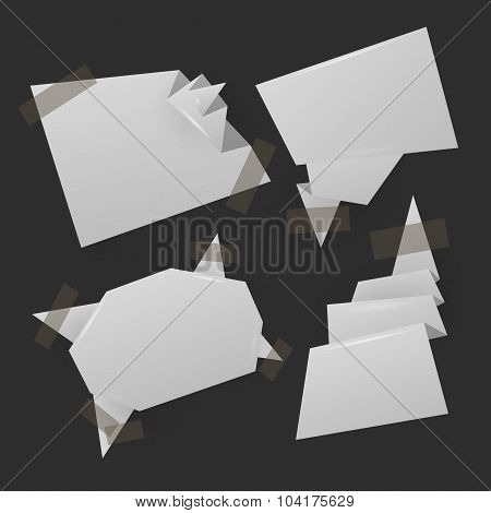 Origami abstract banners with place for text
