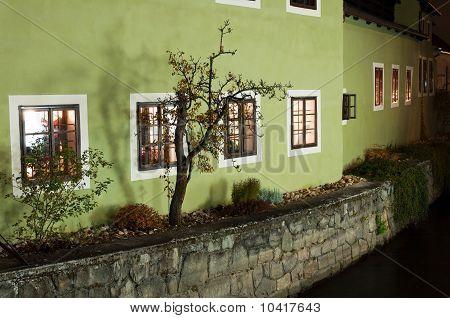 House On The Riverbank In Cesky Krumlov