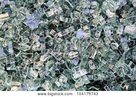 Background shiny crystals.