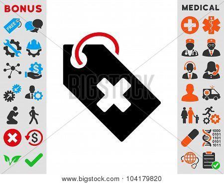 Hospital Tag Flat Icon