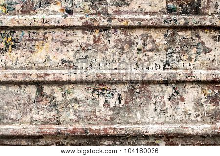 Grunge tin corrugated panel