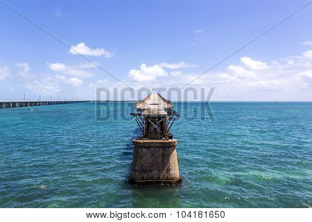 Old Bahia Honda Rail Bridge, Bahia Bay State Park, Florida Keys