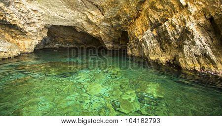 Blue caves, Zakynthos island, Greece.