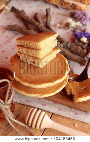 Sweet Pancake With Honey Of Delicious.