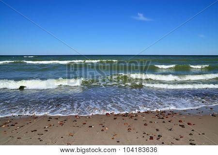 Rocks And Baltic Sea Surf