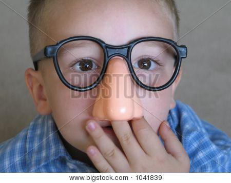 Boy Picking Giant Nose