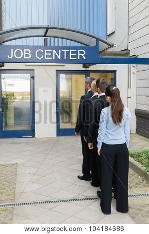 Businesspeople Outside The Job Center