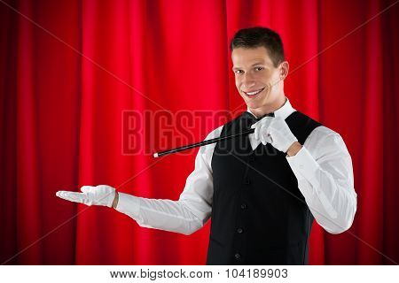 Magician Performing Magic