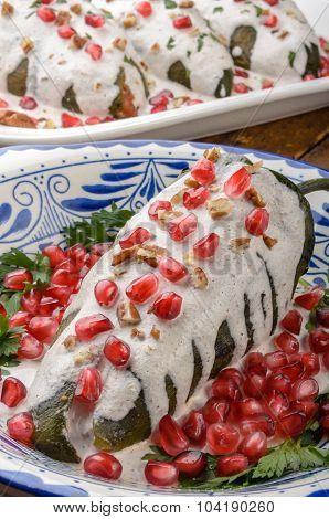 Chiles En Nogada Mexican Food