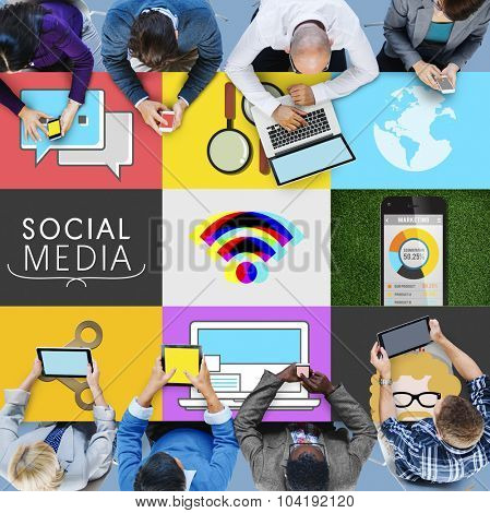 Social Media Social Network Connection Global Concept