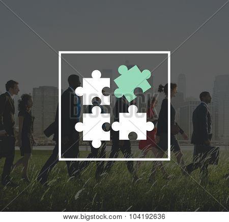 Jigsaw Puzzle Partnership Teamwork Team Concept